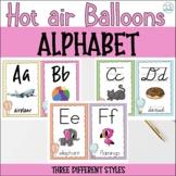 HOT AIR BALLOONS ALPHABET SET- THREE STYLES
