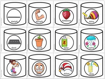 HOT Chocolate WINTER ARTICULATION SPEECH LOW PREP bonus complex /s/ blends