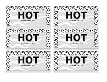 HOT (Homework on Time) Card