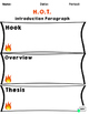 HOT Introduction Paragraph Notes and Graphic Organizers