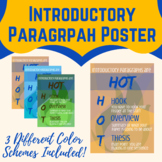 HOT Introductory Paragraph Poster- Hook, Overview, Thesis