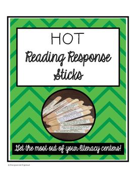 HOT Literacy Center Reading Response Question Sticks