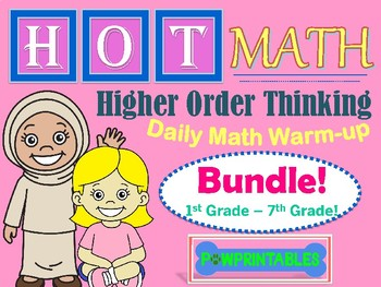 HOT Math BUNDLE!  Grades 1st - 7th!