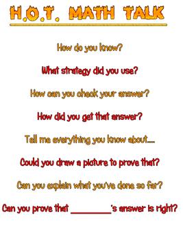 H.O.T. Math Talk