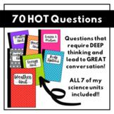 HOT Science Questions BUNDLE   70 Science Journal Prompts