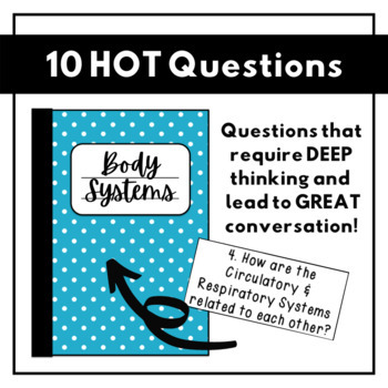 HOT Questions - Science Journal Prompts {Body Systems ONLY}