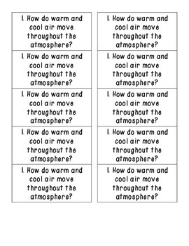 HOT Questions - Science Journal Prompts {Energy ONLY}
