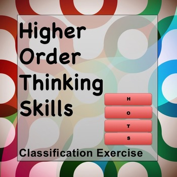 HOTS Higher Order Thinking Skills Classification Exercise
