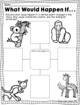 HOTS Reading Response Sheets: Zoo Animals