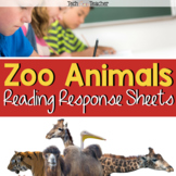 HOTS Reading Response Sheets: Zoo Animals