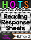 HOTS (Higher Order Thinking Skills) Reading Response Sheets {second edition}