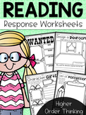 HOTS Reading Response Worksheets - Higher Order Thinking Skills