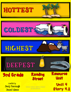 HOTTEST, COLDEST, HIGHEST, DEEPEST Reading Street 3rd Grade Resource Pack