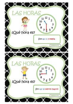 HOURS / HORAS ¿qué hora es? Spanish