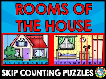 HOUSE AND ROOMS SKIP COUNTING PUZZLES (NUMBERS TO 100)
