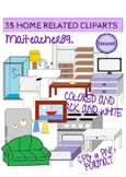 HOUSE RELATED - FURNITURE CLIPARTS