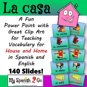 HOUSE:  Spanish--Awesome House Vocabulary Powerpoint!