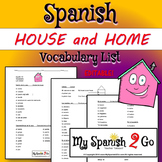 HOUSE:  Spanish Vocabulary List Students Fill in the English