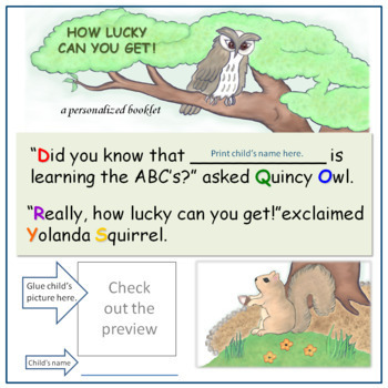 HOW LUCKY CAN YOU GET! - introduction to the alphabet: booklet and abc games