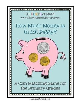 """""""HOW MUCH MONEY IS IN MR. PIGGY?"""" Money Games FREEBIE"""