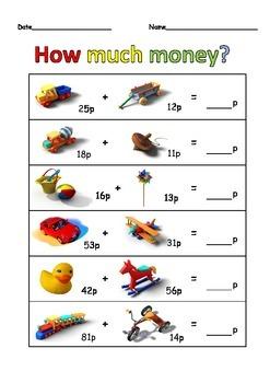 HOW MUCH MONEY WORKSHEET
