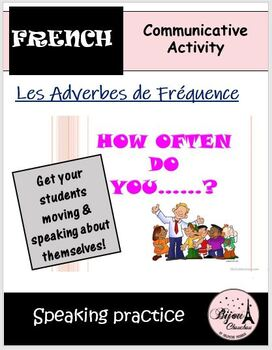 HOW OFTEN DO YOU...: French Speaking Activity