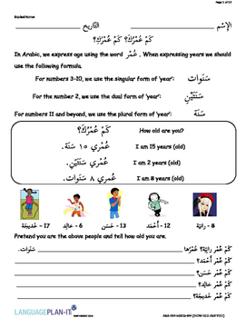 HOW OLD ARE YOU (ARABIC 2015 EDITION)
