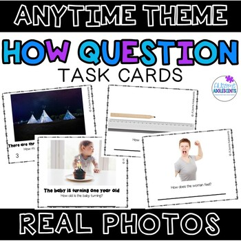 HOW Question Real Photo Task Cards