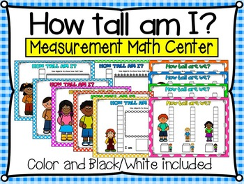 How Tall Am I Math Measurement Centre For Pre Kg