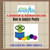 HOW TO ANALYZE POETRY: LESSON & RESOURCES
