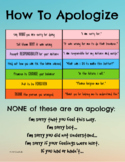 HOW TO APOLOGIZE POSTER 8.5x11 SEL Social-emotional Learni