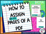 HOW TO ASSIGN SPECIFIC PAGES IN PDF | DISTANCE LEARNING