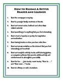 HOW TO BECOME A BETTER READER AND LEARNER