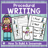 HOW TO BUILD A SNOWMAN - NARRATIVE WRITING