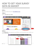 HOW TO GET YOUR SURVEY DATA IN KAHOOT