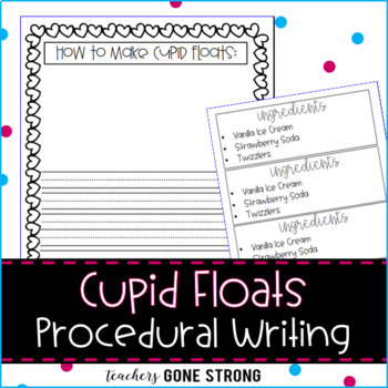 HOW TO MAKE CUPID FLOATS WRITING