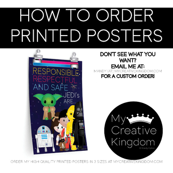 HOW TO ORDER PRINTED POSTERS