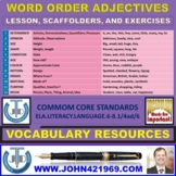 HOW TO PLACE ADJECTIVES IN ORDER: LESSON AND RESOURCES