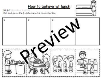 HOW TO .........SEQUENCING- HOW TO BEHAVE AT LUNCH