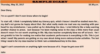 HOW TO WRITE A DIARY: LESSON & RESOURCES