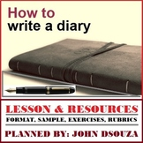 HOW TO WRITE A DIARY: LESSON AND RESOURCES