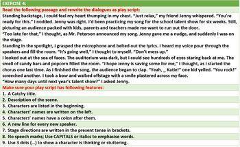 WRITING A PLAYSCRIPT USING DIALOGUE TECHNIQUE: LESSON & RESOURCES
