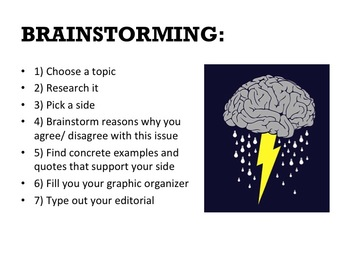 HOW TO WRITE AN EDITORIAL POWER POINT