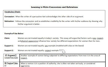 HOW TO: Writing Concessions and Refutations