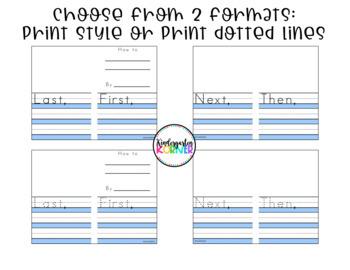 HOW TO Writing Mini Book Kindergarten 1st Sequence / Procedural Writing FREEBIE