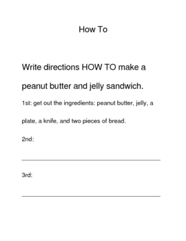 HOW TO make a peanut butter sandwich and other HOW to's