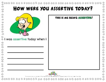 HOW WERE YOU ASSERTIVE TODAY?