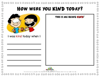 HOW WERE YOU KIND TODAY?