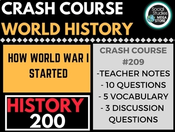 HOW World War I Started: Crash Course World History 209