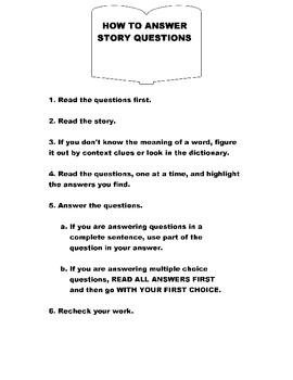 HOW to Answer Story Questions    Grade 2